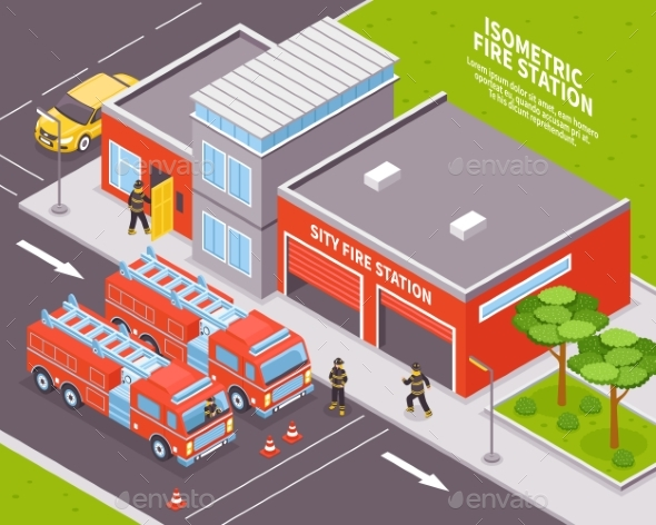 GraphicRiver Fire Department Illustration 20532940
