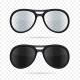 Glasses Set on Transparent Background. Vector