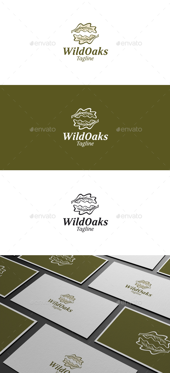 Wild Oaks Logo - Nature Logo Templates