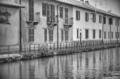 Inzago (Milan, Lombardy, Italy): canal of Martesana
