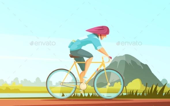 GraphicRiver Cycle Tourist Sportsman Composition 20533204