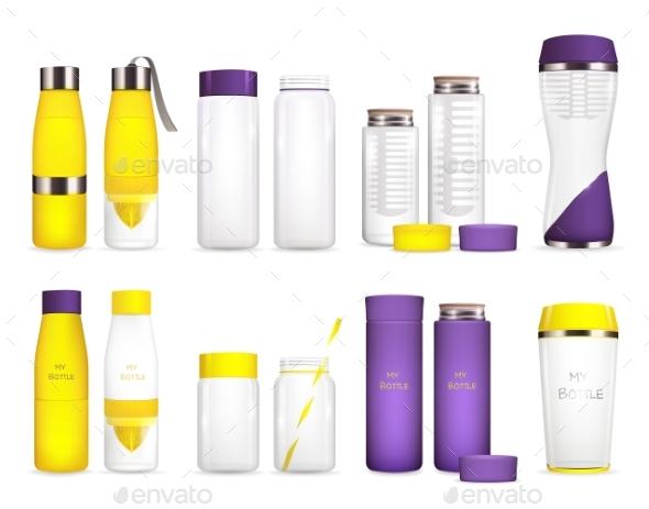 Water Cooler Bottles Set - Food Objects