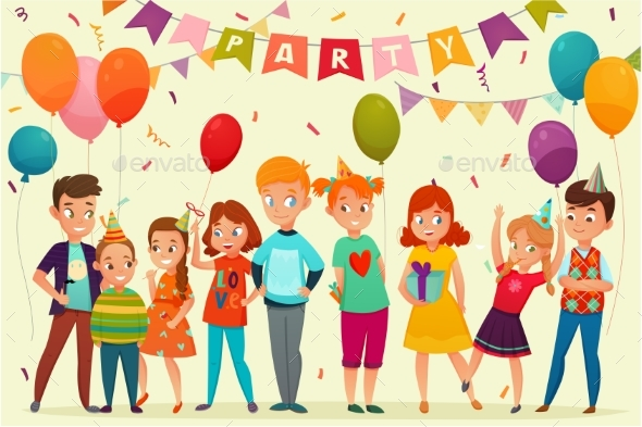 Kids Party Composition - Birthdays Seasons/Holidays
