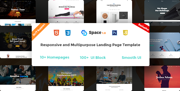 Space - Multipurpose HTML5 Landing Page - Creative Site Templates