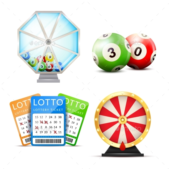GraphicRiver Lottery Realistic Accessories Set 20533306