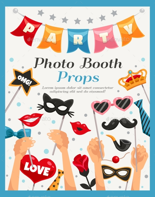 Photo Booth Party Props Poster - Seasons/Holidays Conceptual