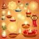 Realistic Diwali Set