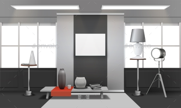 Realistic Loft Interior - Buildings Objects