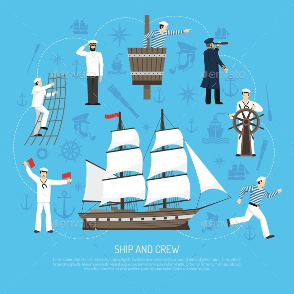 Old Sailboat Sailor Composition Retro - Man-made Objects Objects