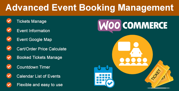 Advanced Event Booking Management for WooCommerce - CodeCanyon Item for Sale