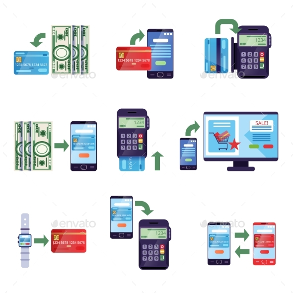 GraphicRiver Payment Methods in Retail and Online Purchases 20533517