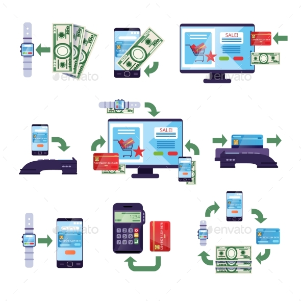 GraphicRiver Payment Methods in Retail and Online Purchases 20533520