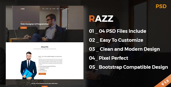 RAZZ Portfolio PSD Template