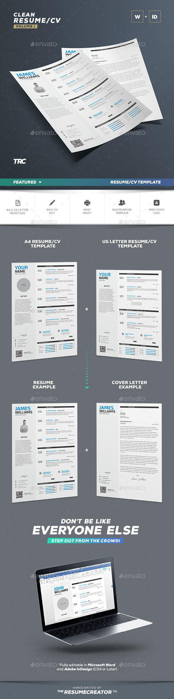 Clean Resume Vol.1