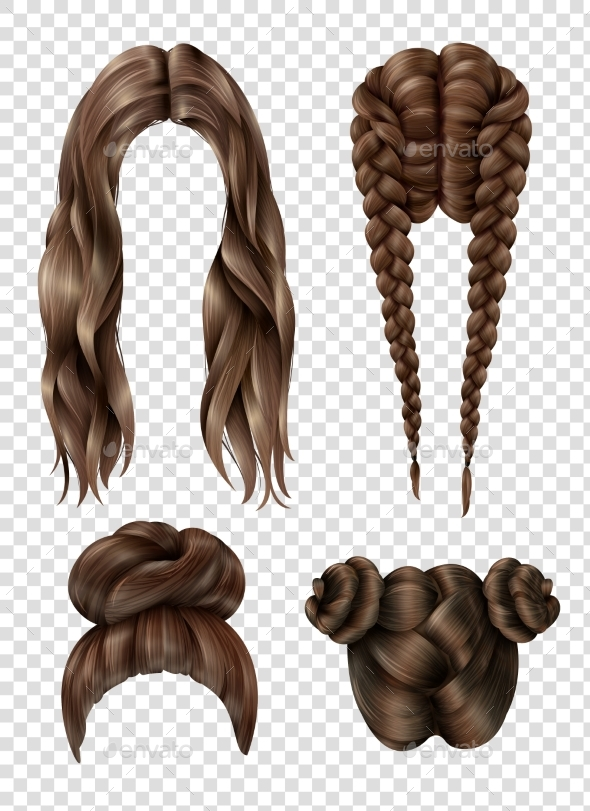 GraphicRiver Female Hairstyles Set 20533835