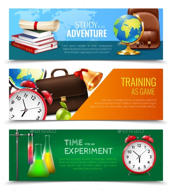 GraphicRiver School Education Banners Set 20533894