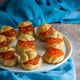 Profiteroles stuffed with red caviar - PhotoDune Item for Sale