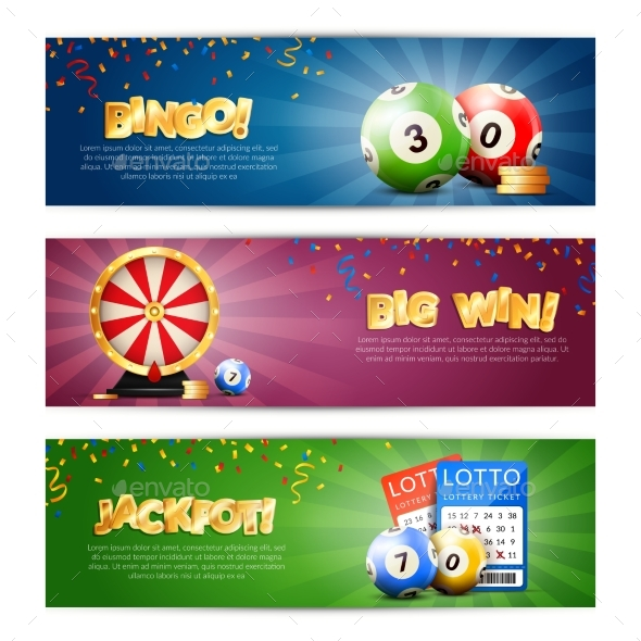 Lottery Jackpot Banners Set - Sports/Activity Conceptual