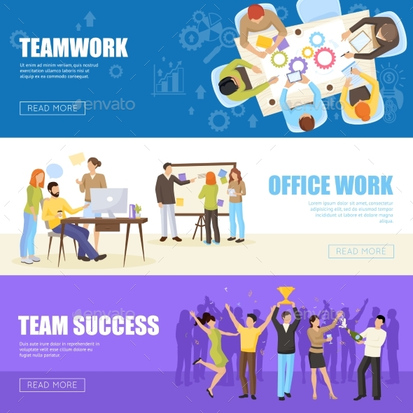 GraphicRiver Teamwork Banners Set 20533922