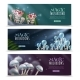 Magic Mushrooms Horizontal Banners Set