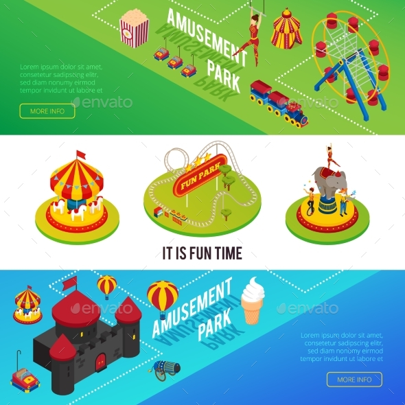 GraphicRiver Circus Isometric Horizontal Banners 20533961
