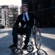 Physically Disabled Businessman. He Turning His Wheelchair To Camera Front - VideoHive Item for Sale