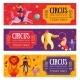 Circus Horizontal Banners Set