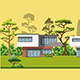 Modern Family Houses with Trees