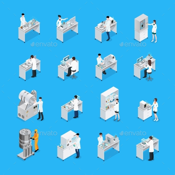 Laboratory Works Icon Set - Technology Conceptual