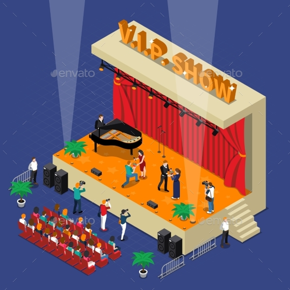 Vip Show Isometric Design - People Characters