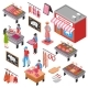 Butcher Shop Isometric Set
