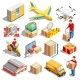 Delivery Isometric Icons Collection