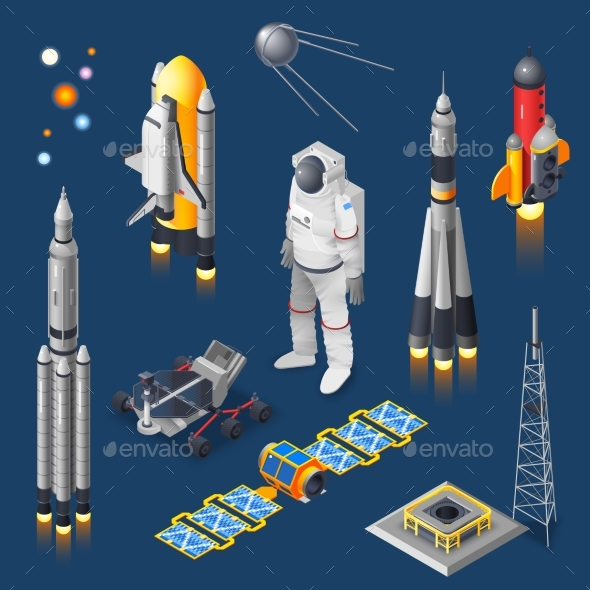 GraphicRiver Space Isometric Set 20534089