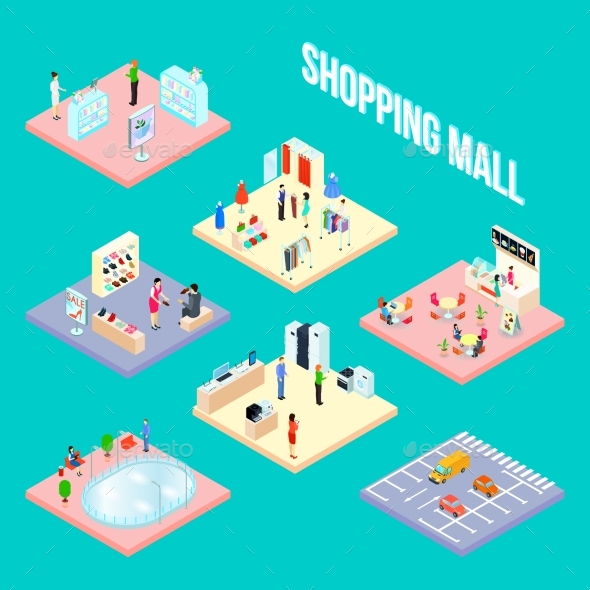 GraphicRiver Shopping Mall Set Object 20534125