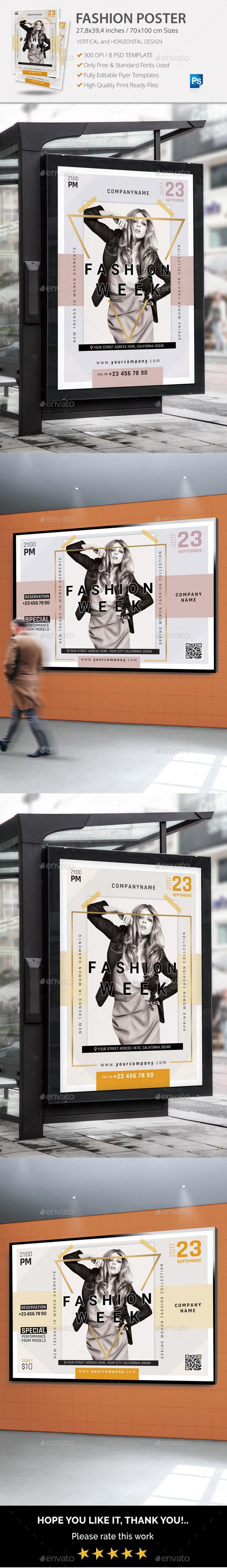 Fashion Poster - Signage Print Templates