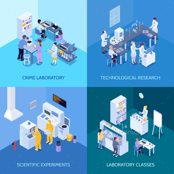 GraphicRiver Laboratory Isometric Design Concept 20534160