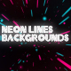Neon Lines Backgrounds - VideoHive Item for Sale