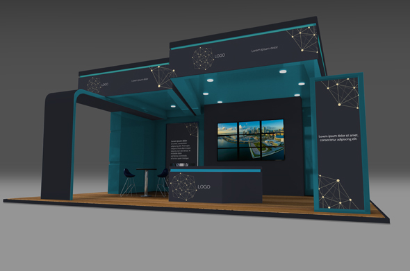 Exhibition Stand Template : Exhibition stand mock up templates by crusadernels graphicriver