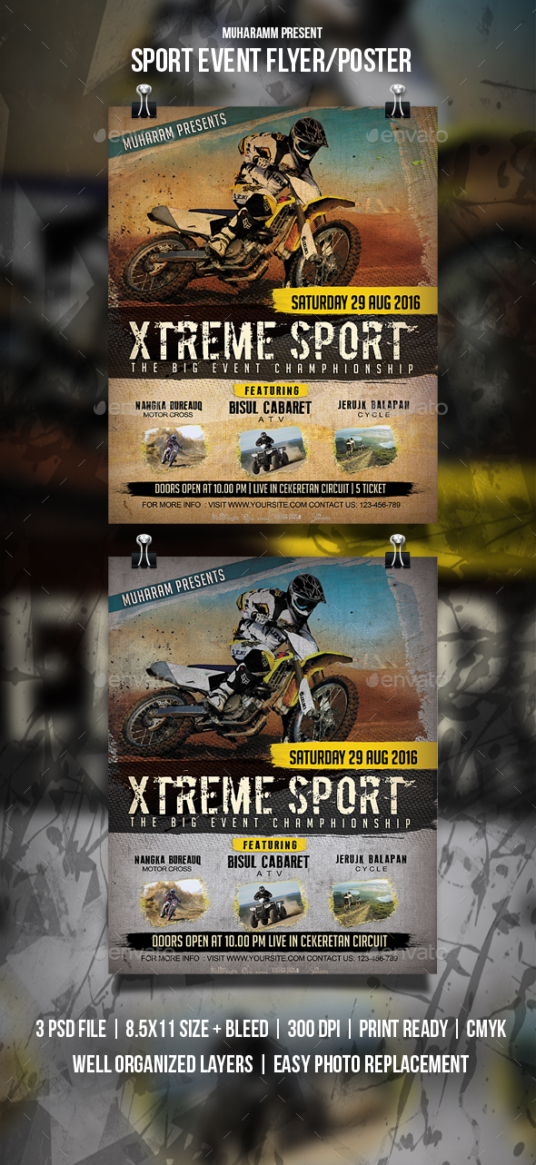 GraphicRiver Sport Event Flyer Poster 20534453