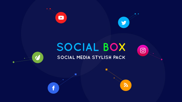 VideoHive SocialBox Social Media Intro and Outro for Social Media Links Promotion 20534548
