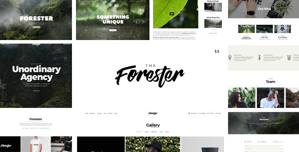 The Forester - Responsive Multipages and Onepage Multi-Purpose Joomla! Template