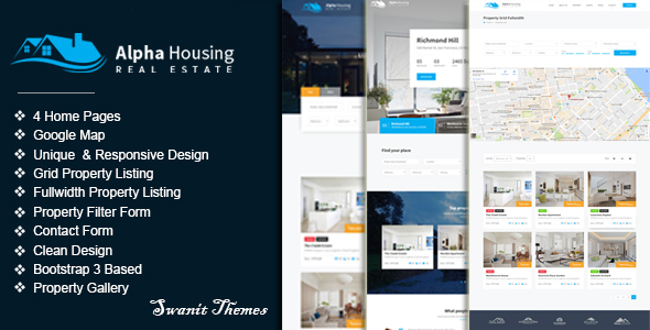 Alpha Housing - Real Estate Multipurpose Template - Business Corporate