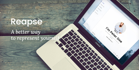 Reapse - Creative vCard / Resume / CV WordPress Theme - Personal Blog / Magazine