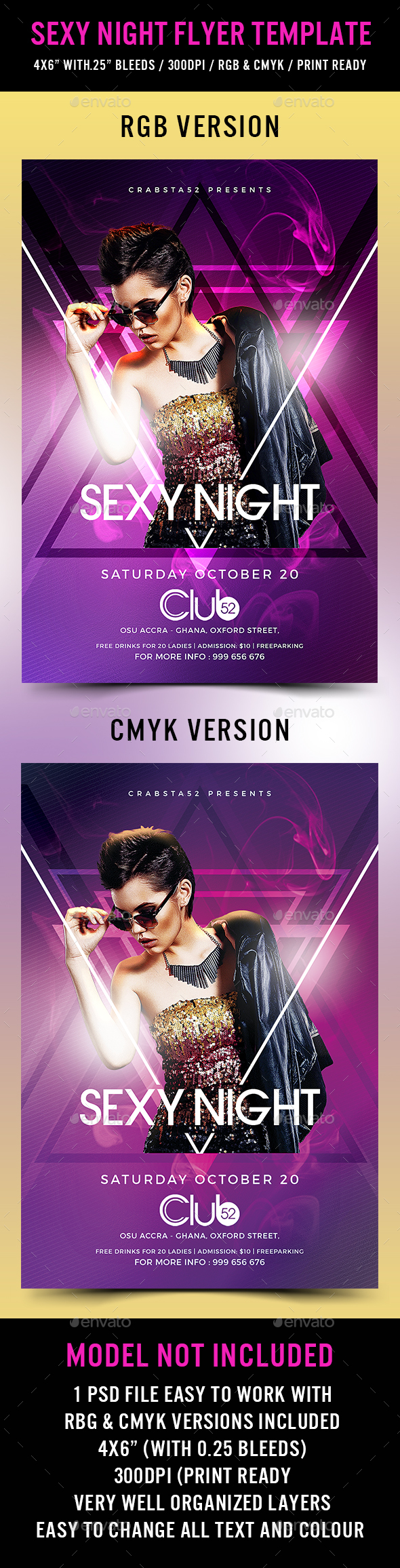 Sexy Night Flyer Template - Flyers Print Templates
