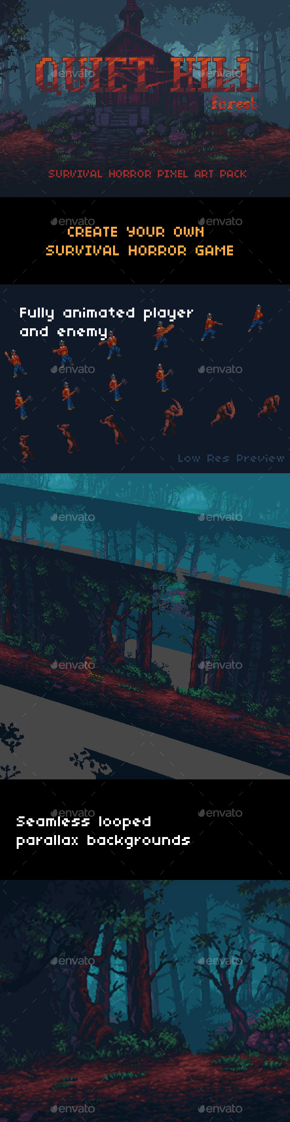 GraphicRiver Quiet Hill Forest Pack 20535010