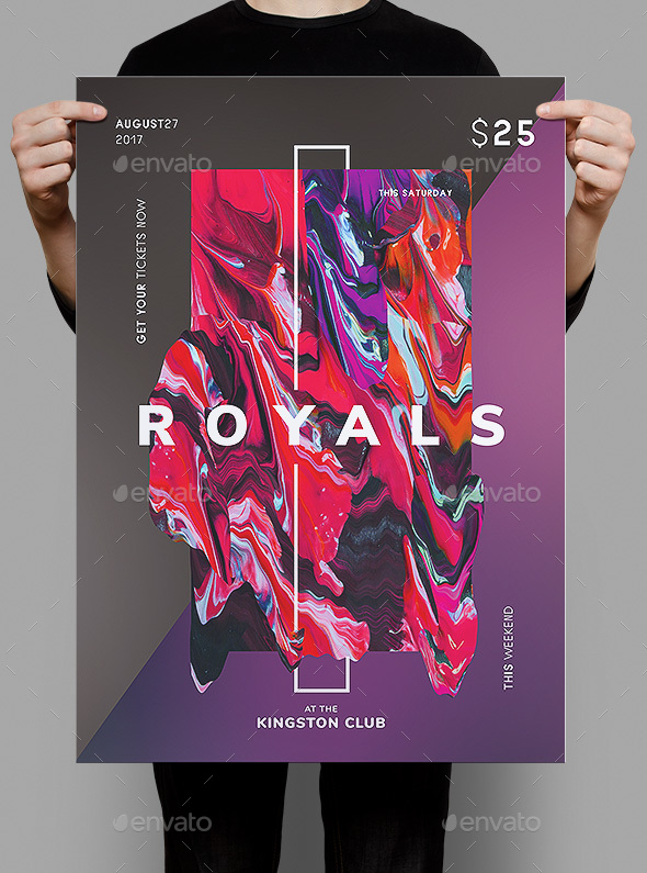 Royals Flyer / Poster Template - Clubs & Parties Events