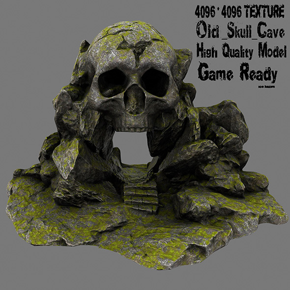 skull cave - 3DOcean Item for Sale