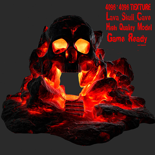 lava skull cave - 3DOcean Item for Sale