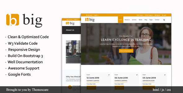 BIG || Multipurpose HTML Template