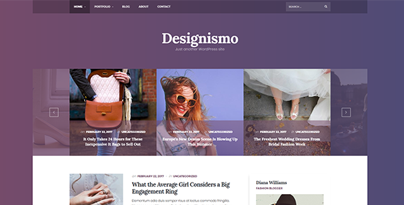 Image of The Designismo - Responsive WordPress Blog Theme